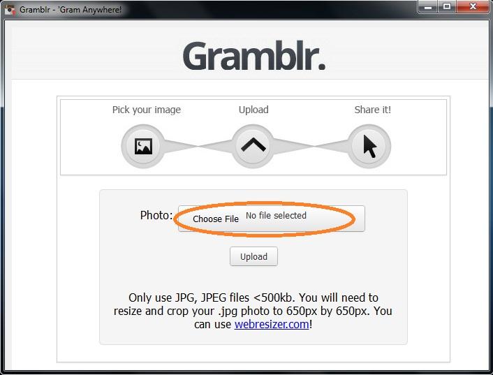 Как загрузить в gramblr